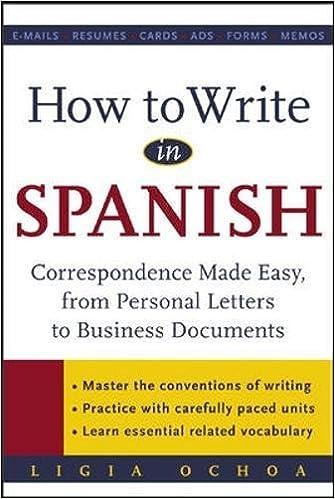 Amazon.com: How to Write in Spanish : Correspondence Made Easy ...