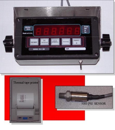 (Tara System Forklift / Loader Hydralic Scale System / Thermal Printer / Pressure Sensor, New, Made in USA)