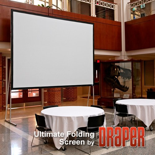 (Ultimate Folding Screen with Heavy-Duty Legs, 9' x 9', Square, CineFlex CH1200V - Draper-241090)