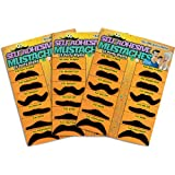 36 Pack Fake Mustache Mustaches Novelty 36pk By Allures & Illusions (Orange)