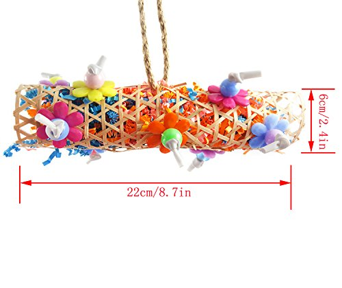 BWOGUE Bird Chewing Toy Parrot Cage Toys Cages Shredder for African Grey Amazon Cockatiel Parakeet