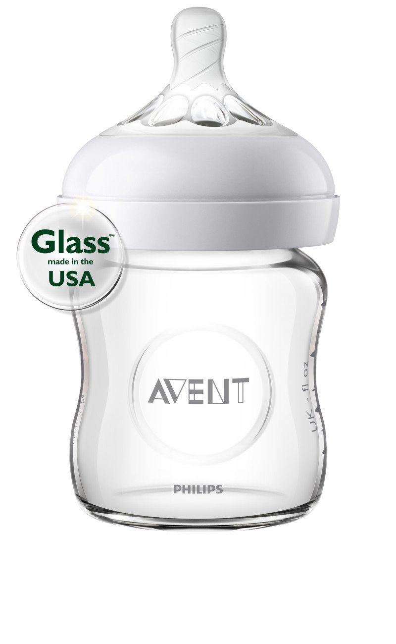 Philips Avent Natural Glass Baby Bottle, 4oz, 1pk, SCF701/17