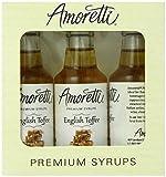 Amoretti Premium English Toffee Syrups 50ml 3 Pack
