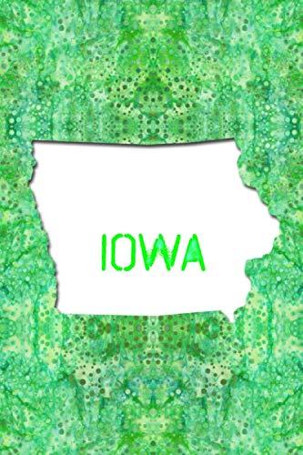 Iowa Hawkeyes Santa - IOWA: 6x9 lined journal : The Great State of Iowa USA : The Hawkeye State Notebook