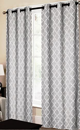 CHD Home Textiles Dagmara Curtain Panel, Silver