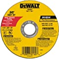 "DeWalt DW8062 4-1/2"" x .045 x 7/8"" Type 1 Metal Cut Off Wheel - Quantity 50"