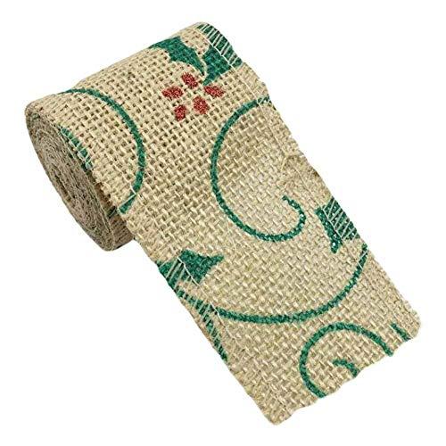 Panda Legends [Green Lace] 13.1 Feet 6 cm - DIY Jute Ribbon Trim Decorative Gift Wrap Ribbon