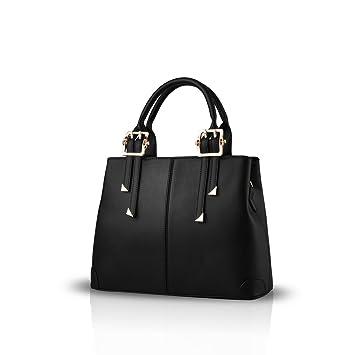 bb9a4f8852b NICOLE DORIS new fashion handbag portable shoulder bag casual Messenger bag  purse for ladies(Black)