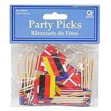 Beistle 60108 International Flag Picks, 21/2-Inch, 50-Pack