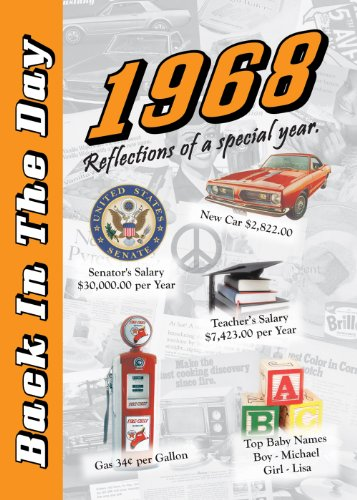 1968 Back In The Day Almanac -- 24-page Booklet / Greeting Card cover