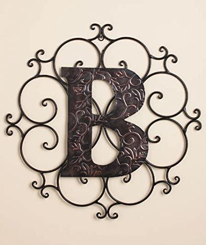 Personalized Metal Embossed Monogram Wall Hanging B