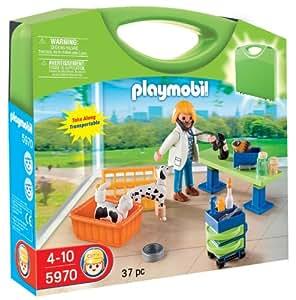 Playmobil 626653 - Maletín Clínica Veterinaria: Amazon.es: Juguetes y juegos