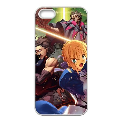 Fate Stay Night 3 coque iPhone 5 5S Housse Blanc téléphone portable couverture de cas coque EOKXLLNCD12378