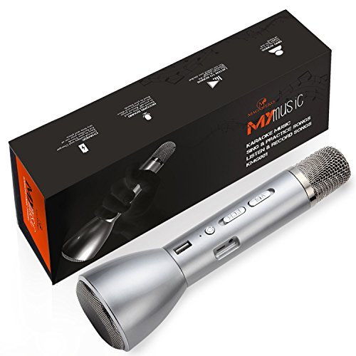 Wireless Karaoke Set Bluetooth Microphone compatible with Android Smartphone Apple iPhone ios Cellphones and ipad