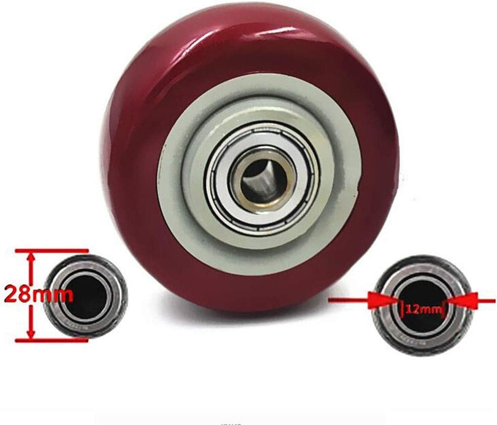 Color : Without brakes, Size : 3-inch Universal Casters MUMA 75mm Caster Wheels 3-inch Threaded Silent Rubber Rotating Wheel Trolley Furniture