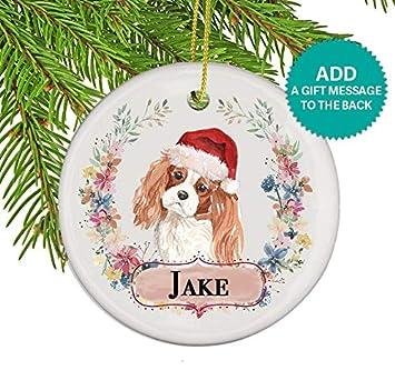 Cavalier King Charles Spaniel Dog Personalized Christmas Ornament - Amazon.com: Cavalier King Charles Spaniel Dog Personalized Christmas