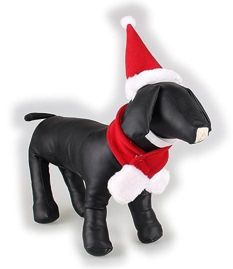 Mascota Perro Gato Navidad Disfraz Sombreros Traje de Cabo ...