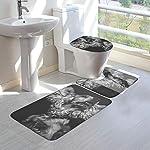 GHWSgGN English Cocker Spaniel Dog Bathroom Rug Mats Set 3 Piece Fashion Anti-Skid Pads Bath Mat + Contour + Toilet Lid Cover 6