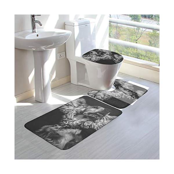 GHWSgGN English Cocker Spaniel Dog Bathroom Rug Mats Set 3 Piece Fashion Anti-Skid Pads Bath Mat + Contour + Toilet Lid Cover 3