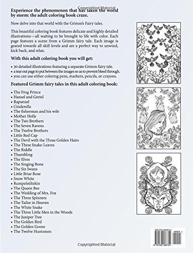 amazoncom grimms fairy tales adult coloring book adult coloring book series volume 17 9781533536754 adult coloring book books