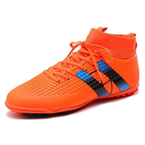 Xing Lin Fußballschuhe Fußball-Schuhe Schuhe Der Männlichen Spike Nagel Kaputt Kinder Tf Hohe Rutschfeste Verschleiß Kunstrasen Turnschuhe, 38, Rot