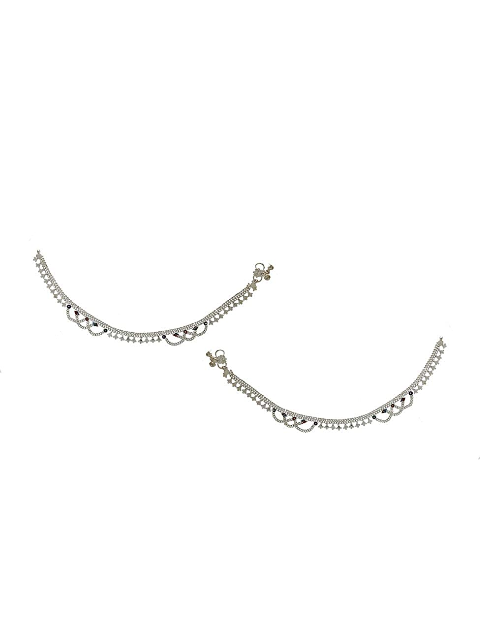 Anuradha Art Silver Colour Very Stylish Wonderful Desiger Anklets//Payal for Women//Girls