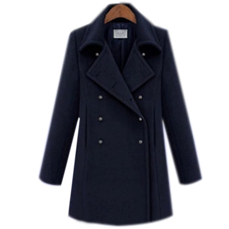 ipretty Damen Winter Mantel Jacke Herbst Parka Damen Trenchcoat Outerwear mit Extra Groß XL XXL XXXL XXXXL XXXXXL