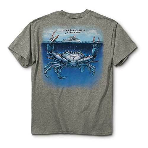 Mojo Art We Are Going to Need a Bigger Boat Maryland Crab T-shirt (XL) ()