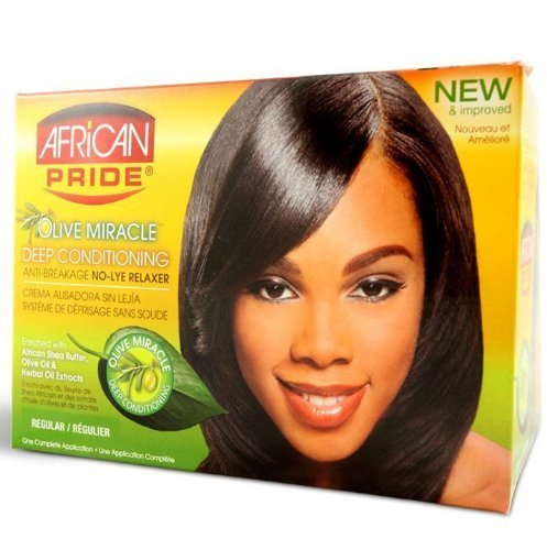 African Pride Olive Miracle Deep Conditioning Relaxer Kit - Regular by AFRICAN PRIDE ()