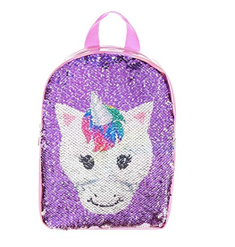 Claire's Girls Club Reversible Sequin Pink Unicorn Rainbow Backpack -