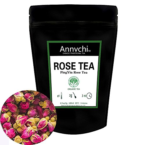 Skin Victorian Air - Rose Tea Loose Leaf (50 Cups), Red Rose Tea, Roses tea Decaffeinated, 98g (3.5oz)