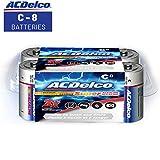 ACDelco C Batteries, Super Alkaline Battery, 8 Count Pack