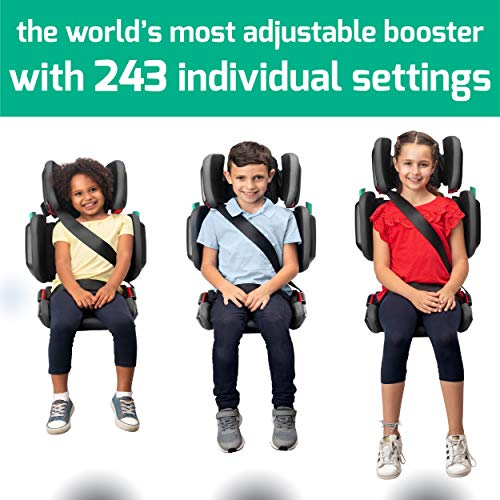 51KV412RA7L - Hifold Fit-and-fold Highback Booster Seat, Racing Red – Adjustable Highback Booster Car Seat For Everyday, Carpooling And More – Foldable Booster Seat For Travel