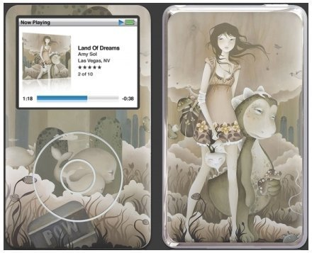 GelaSkins Protective Skin with Screen Protector for iPod Video 5G (Land of Dreams)