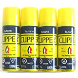 Clipper Butane Fuel Gas Lighter Refill Travel Size 26g Pack of 4