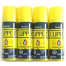 Clipper Butane Fuel Gas Lighter Refill Travel Size 26g Pack of 4
