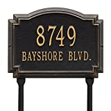 Customized Williamsburg LAWN Address Plaque 2 Lines 14''W x 10''H