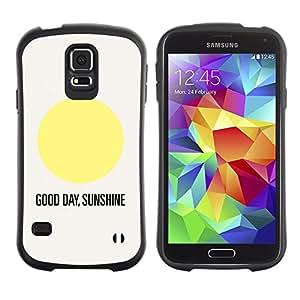 Paccase / Suave TPU GEL Caso Carcasa de Protección Funda para - Sunshine Good Day Quote Text Sun Minimalist - Samsung Galaxy S5 SM-G900