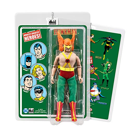 DC Comics 8 Inch Action Figures with Retro Cards: Hawkman (Retro Action Figures)