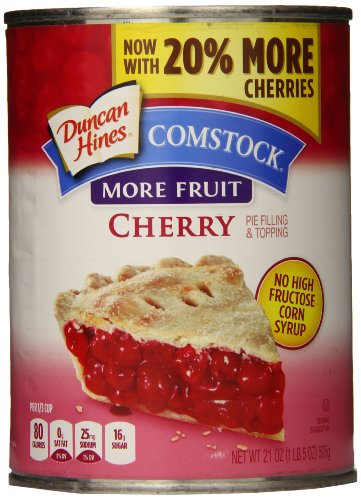 Comstock More Fruit Pie Filling & Topping, Cherry, 21 Ounce (Pack of (Comstock Fruit)