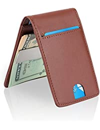 Slim Money Clip Wallets for Men Front Pocket Wallet Card Holder RFID Blocking