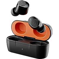 SKULLCANDY Jib True - Auriculares in-Ear inalámbricos, Color Negro y Naranja