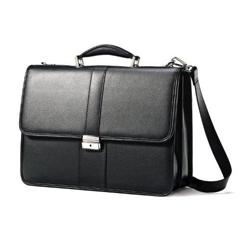 Samsonite Leather Flapover Case Black