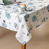 "Lenox Butterfly Meadow Blue 60"" x 102"" Oblong Tablecloth"