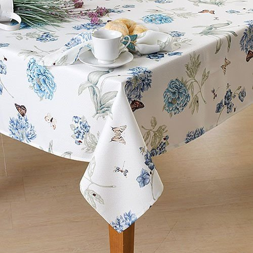 - Bardwil Lenox Butterfly Meadow Blue Square Tablecloth 52 x 52