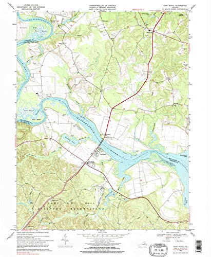 YellowMaps Port Royal VA topo map, 1:24000 Scale, 7.5 X 7.5 Minute, Historical, 1968, Updated 1985, 26.9 x 22.1 in - Polypropylene ()