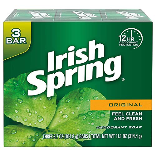 Irish Spring Original Deodorant Soap 3 Bars, 2 Pack (6 - Lever Deodorant Bar Soap