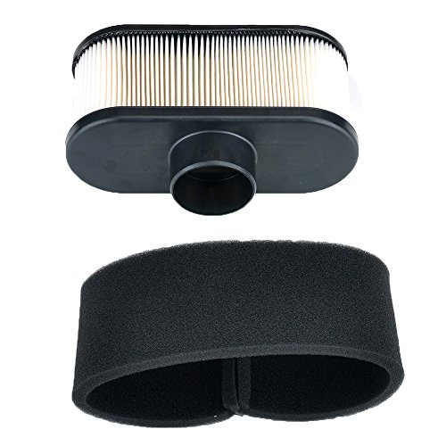 HIPA (Pack of 2) Air Filter with Pre Filter for Kawasaki Engine 11013-7049 11013-0726 11013-0752 99999-0384 John Deere MIU12555 BobCat 4164631 Lawn Mower