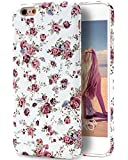 iPhone 6S Case, Imikoko™ Retro Vintage Floral Print Flower Pattern Hard High Impact Slim Protective Case For iPhone 6s/6 (Style I)