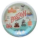Boston Massachusetts Theme Paper Plates